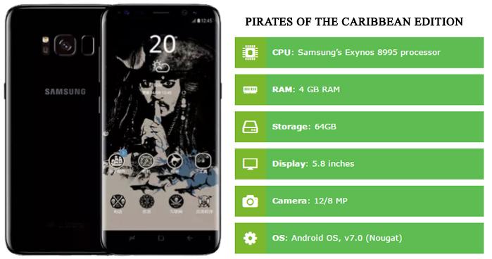Samsung Galaxy S8 Pirates Edition Specs