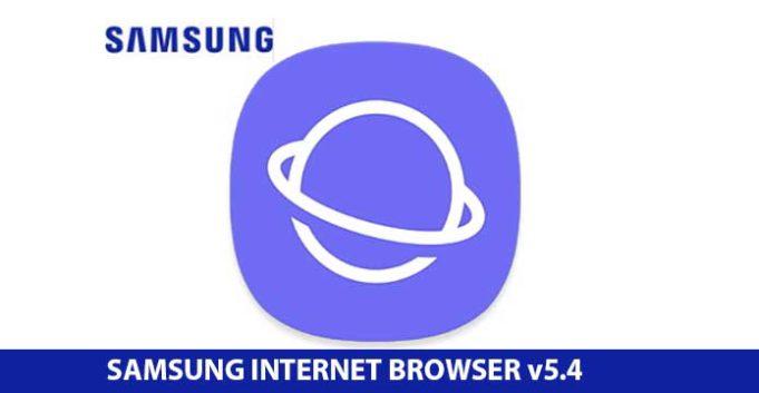 Samsung internet 5.4