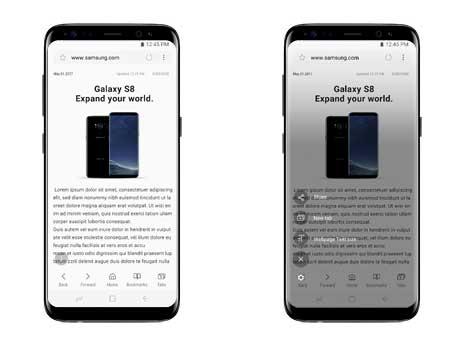 Samsung quick menu
