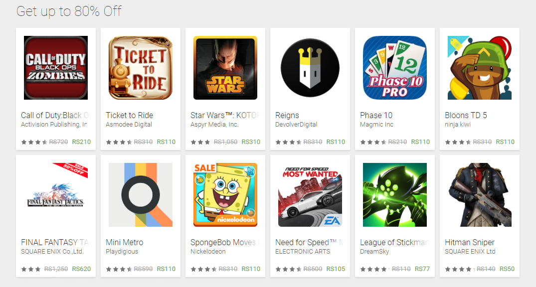 Google Play Store Discount Offer