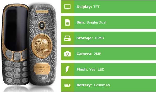 Nokia 3310 Putin-Trump Specs