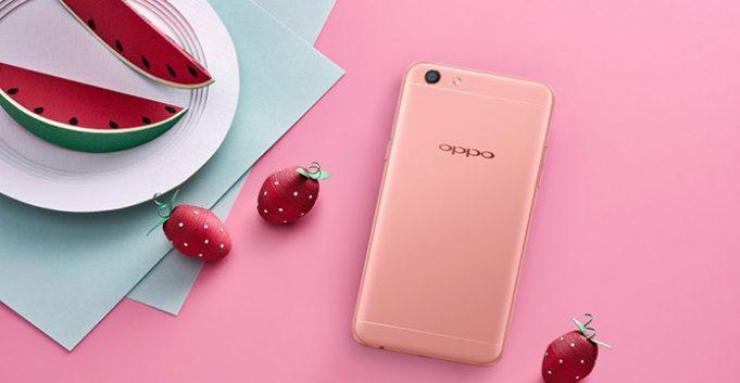 Oppo F3 Rose Gold variant