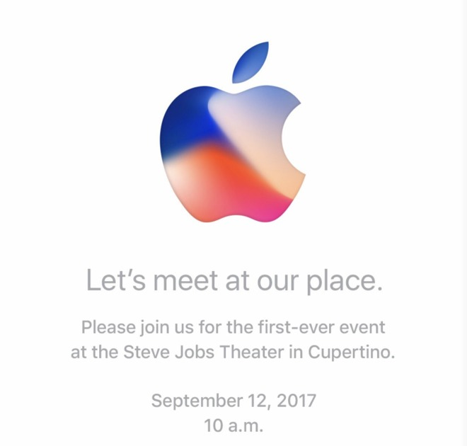 Apple iPhone 8 Launch Event Invitation