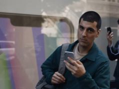 The man in latest commercial by Samsung has a hair cut like iPhone X